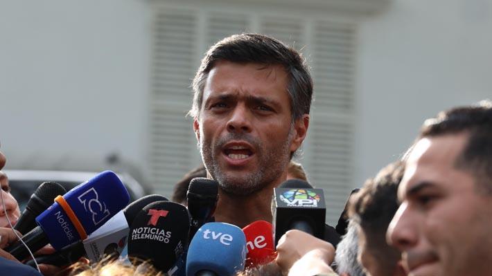 """Leopoldo López agradece respaldo de Presidente Piñera """"a la lucha por el cese de la usurpación"""" y valora su apoyo a Guaidó"""