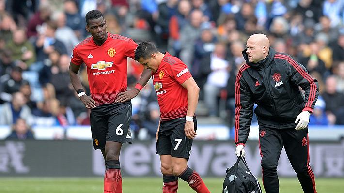 """Alexis Sánchez sale lesionado en empate del United y enciende las alarmas en la """"Roja"""" de cara a Copa América"""