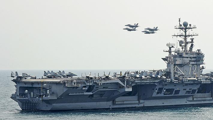 """EE.UU. envía portaaviones a Medio Oriente como respuesta a """"amenaza creíble"""" de Irán"""
