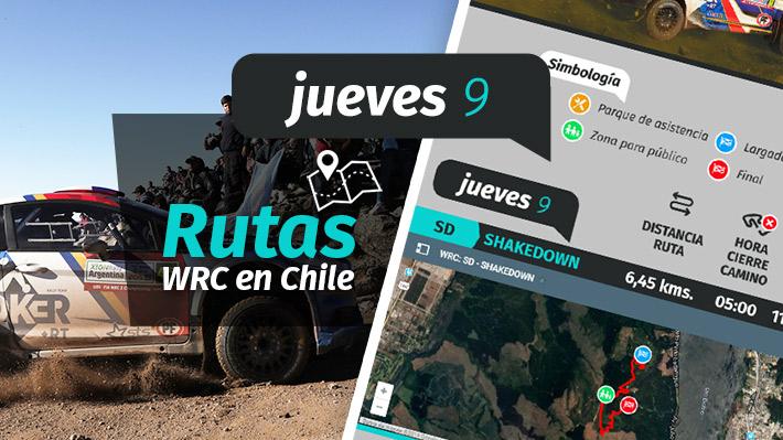 Rally Mundial en Concepción: Revisa los horarios y rutas de las etapas de este jueves