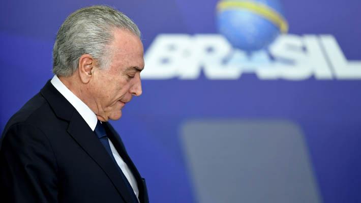 Tribunal de Brasil determina que ex Presidente Michel Temer vuelva a prisión preventiva