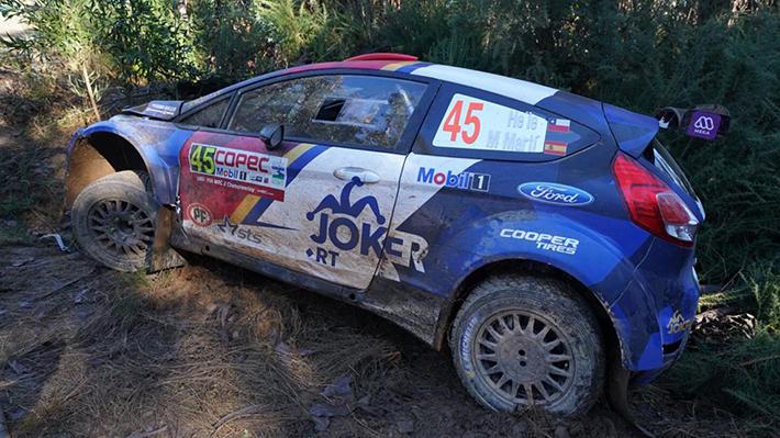 Accidentes y desperfectos: Complicada jornada para los equipos chilenos en el inicio del WRC en Concepción