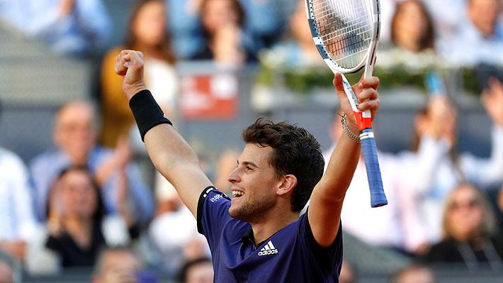 Con Massú en las tribunas, Thiem derrota a Federer y ahora enfrentará a Djokovic en semis del Masters 1.000 de Madrid