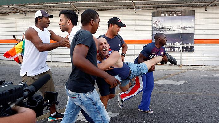Marcha LGTBI en Cuba es reprimida y termina con enfrentamientos entre manifestantes y policías