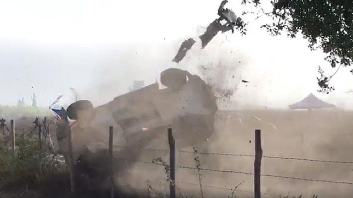 Mira el impresionante volcamiento de Alberto Heller en el WRC de Concepción