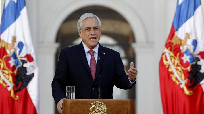 """Piñera apela al """"patriotismo"""" para revertir rechazo de ideas de legislar: """"Le quiero pedir a esa mayoría que corrija este error"""""""