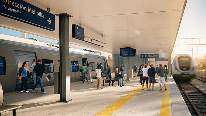 Tren Santiago-Melipilla: Iniciará construcción en 2020, beneficiará a ocho comunas y funcionará con tarjeta Bip