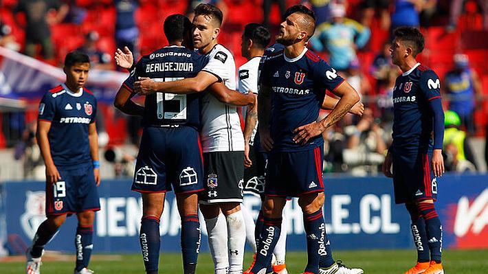 La U mejoró, pero no pudo aguantar y Colo Colo le empató el Superclásico en el Nacional
