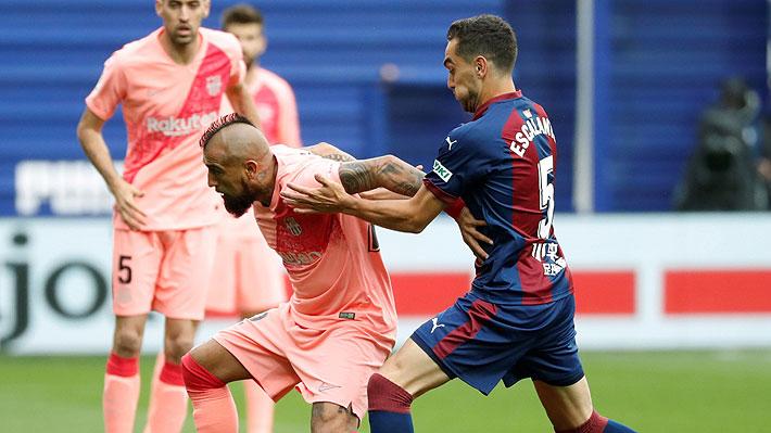 Video: La tremenda asistencia de Vidal para que Messi convierta un gol para el Barcelona ante el Eibar