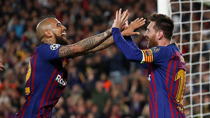 """El notable registro por el que en España catalogan a Vidal como """"uno de los mejores aliados de Messi"""" en el Barcelona"""