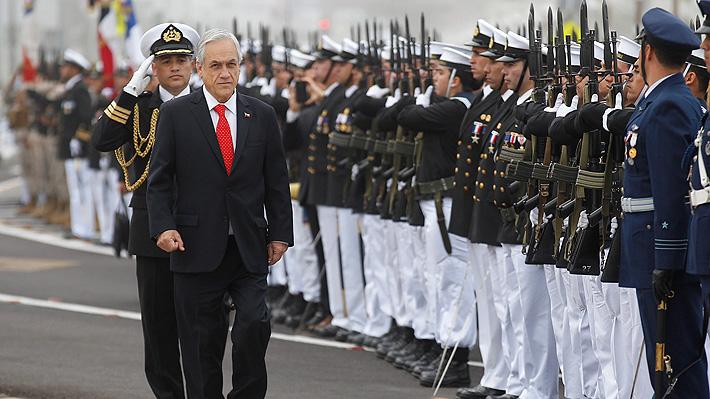 """Piñera: """"Hoy más que nunca necesitamos héroes como Prat que sepan comprender el valor de la unidad y del patriotismo"""""""