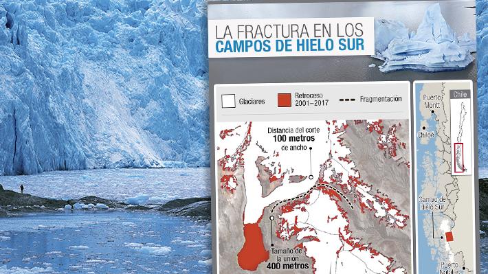 Fractura en Campo de Hielo Sur: ¿A cuánto equivale la superficie del territorio desprendido?