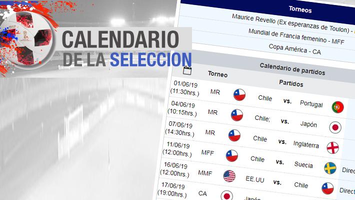 """Junio viene recargado de fútbol: El calendario con los partidos de la """"Roja"""" femenina, la Sub 23 en Toulon y la Copa América"""