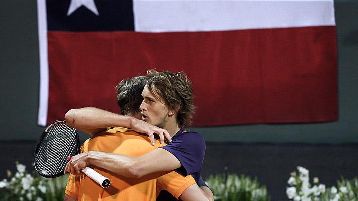 Mira el noble gesto que tuvo Zverev con Jarry tras derrotarlo en la final del ATP de Ginebra