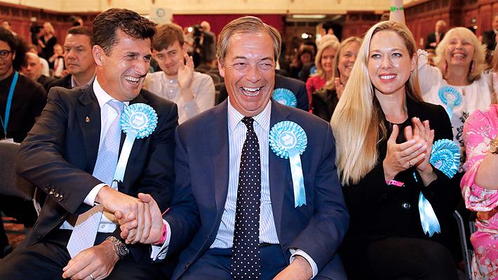 Partido de Nigel Farage gana las elecciones europeas en el Reino Unido y aumenta la presión hacia un Brexit duro