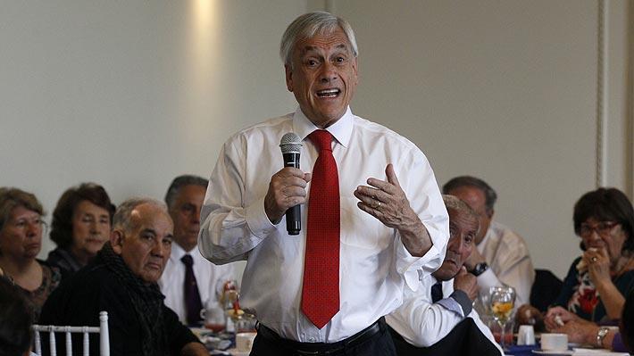 """Piñera asegura que """"preocupa"""" fuerte baja en ranking de Competitividad y apunta a reformas de Bachelet"""