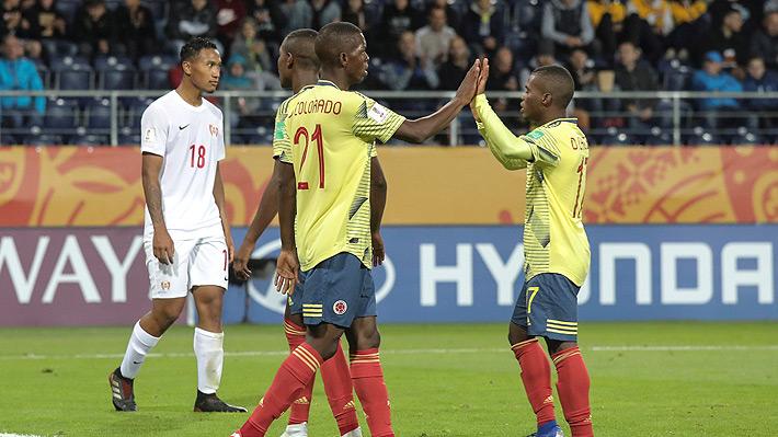 Colombia goleó y se suma a los equipos sudamericanos clasificados a los octavos del Mundial Sub 20