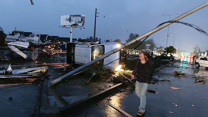 Tornado en Los Ángeles: Intendencia cifra en 16 los lesionados, 22 casas afectadas y 12 mil clientes sin electricidad