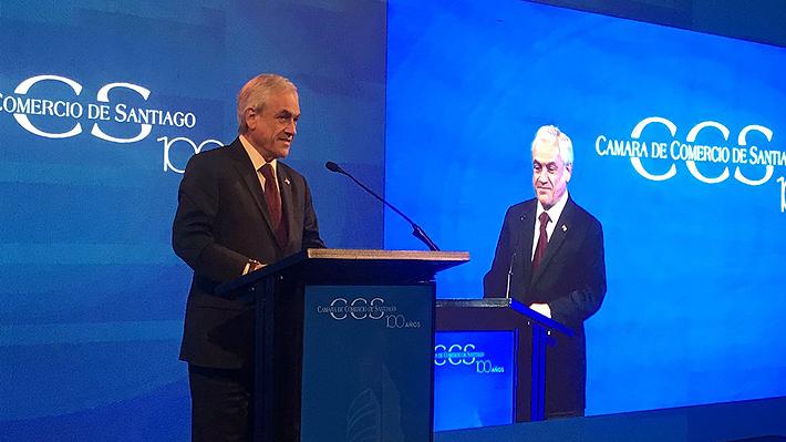 """Piñera reitera que """"este año va a ser más difícil"""" crecer, pero asegura que Chile """"va a destacar en el contexto mundial"""""""