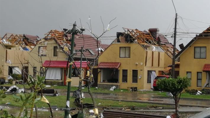 Nuevo fenómeno de viento se registra en Talcahuano: evento genera diversos daños en la ciudad