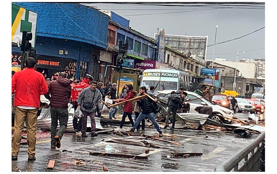 Galería: Tromba marina causa estragos en Talcahuano y Concepción