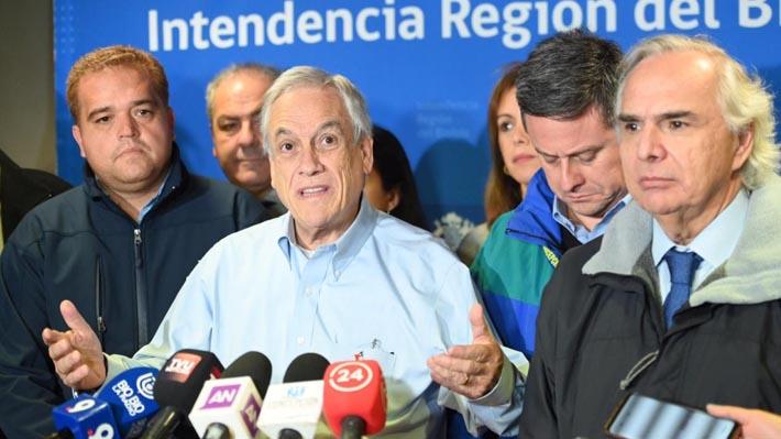 Presidente Piñera anuncia que FF.AA. y policías trabajarán en reconstrucción y orden público de zona afectada por tornados