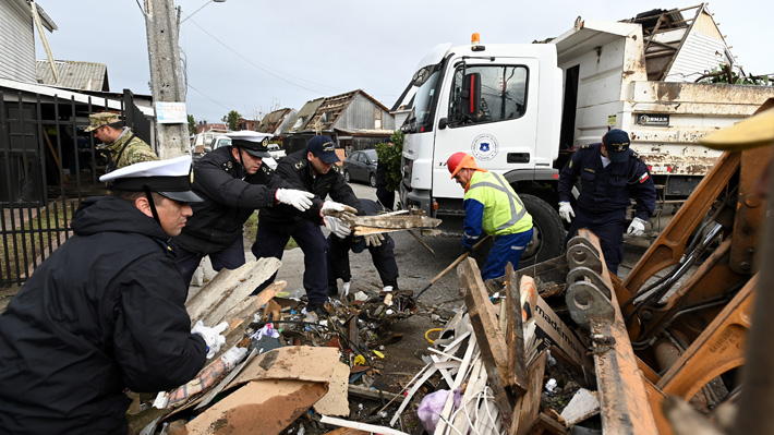 Tromba en Talcahuano dejó cerca de 1.200 toneladas de escombros: Se ha retirado el 80%