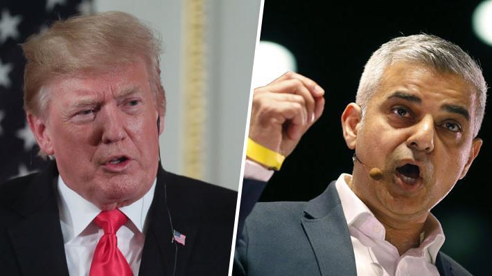 """""""Perdedor"""", """"desagradable"""" e """"ignorante"""": El historial de peleas entre Donald Trump y el alcalde de Londres"""