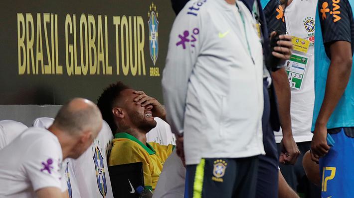Siguen los problemas para Neymar: Se lesionó en amistoso de Brasil con Qatar y quedó en duda para la Copa América