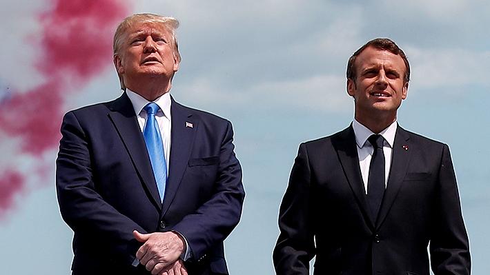 """Macron recuerda el """"Día D"""": """"EE.UU. nunca es más grande que cuando pelea por la libertad de otros"""""""