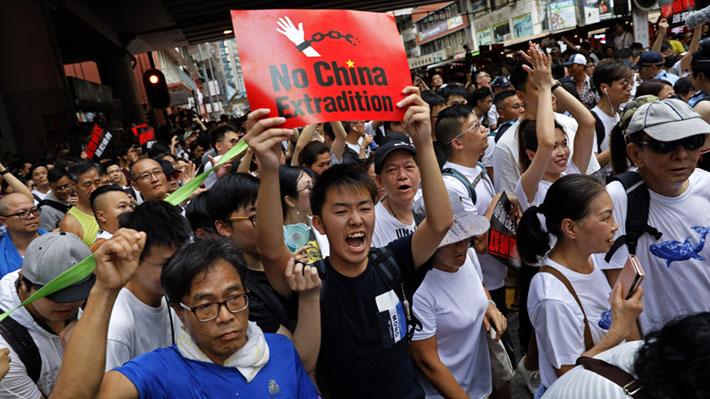 Galería: Gobierno de Hong Kong insiste en ley de extradición pese a multitudinaria jornada de protestas