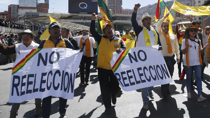 Tres candidatos bolivianos de oposición protestan contra Tribunal Supremo Electoral por considerarlo parcial
