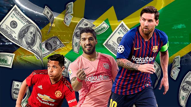 ¿Sabías que? Cuatro de los jugadores mejor pagados del mundo estarán en la Copa América... Quiénes son y cuánto ganan