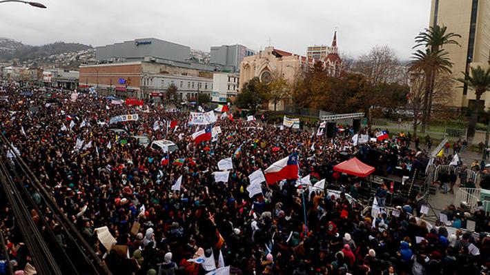 Acto de cierre de la marcha de profesores llega hasta el Congreso