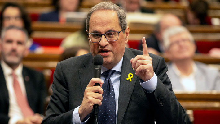 """Presidente regional de Cataluña reivindica el intento independentista de 2017: """"Lo volveremos a hacer"""""""