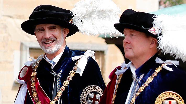 Galería: Rey Felipe VI es investido por Isabel II con la máxima condecoración británica