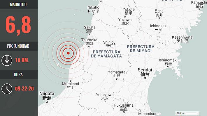 Sismo de 6,8 en Japón genera alerta de tsunami para la zona norte del archipiélago