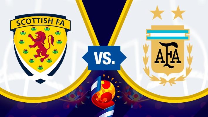 Asi se dio la igualdad de Argentina ante Escocia en el Mundial Femenino