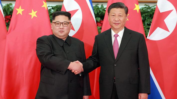 Presidente chino Xi Jinping llega a Corea del Norte para su visita de Estado