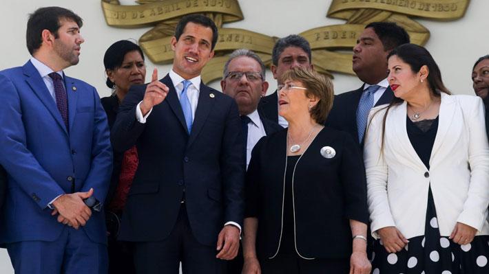 """Guaidó tras encuentro con Bachelet: """"Aseguró que está insistiendo en la liberación de los presos políticos"""""""