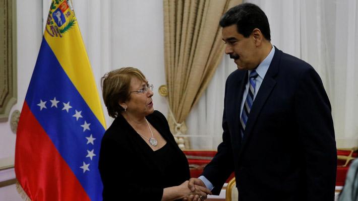 Michelle Bachelet se reúne con Nicolás Maduro en el Palacio de Miraflores
