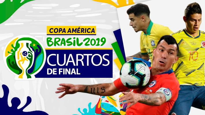 Revisa cómo quedaron definidas las parejas de los cuartos de Copa América y cuándo se disputarán estos duelos