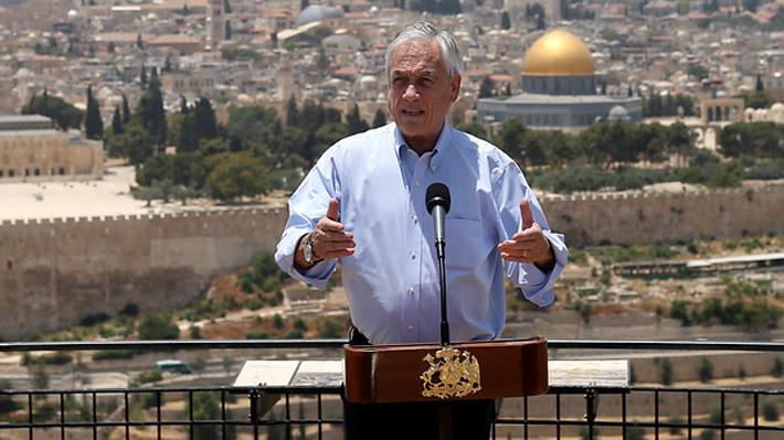 Piñera descarta trasladar embajada de Chile a Jerusalén y asegura que permanecerá en Tel Aviv