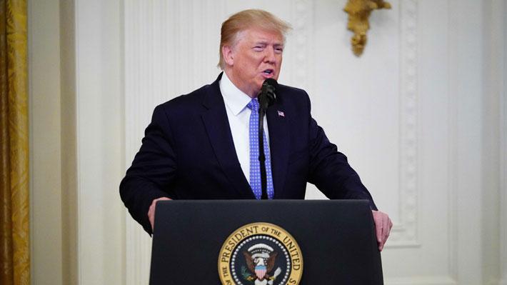 """Trump advierte a Irán y asegura que responderá con """"una fuerza grande y abrumadora"""" cualquier ataque"""