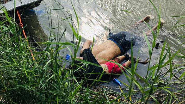 Imagen de padre e hija migrantes que murieron intentando cruzar a EE.UU. despierta indignación en el mundo