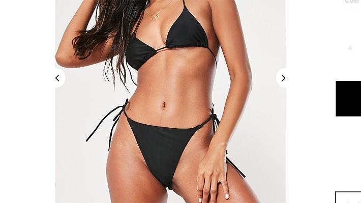 Un bikini negro de $860 genera indignación y molestia en el Reino Unido: se cuestiona su bajo costo