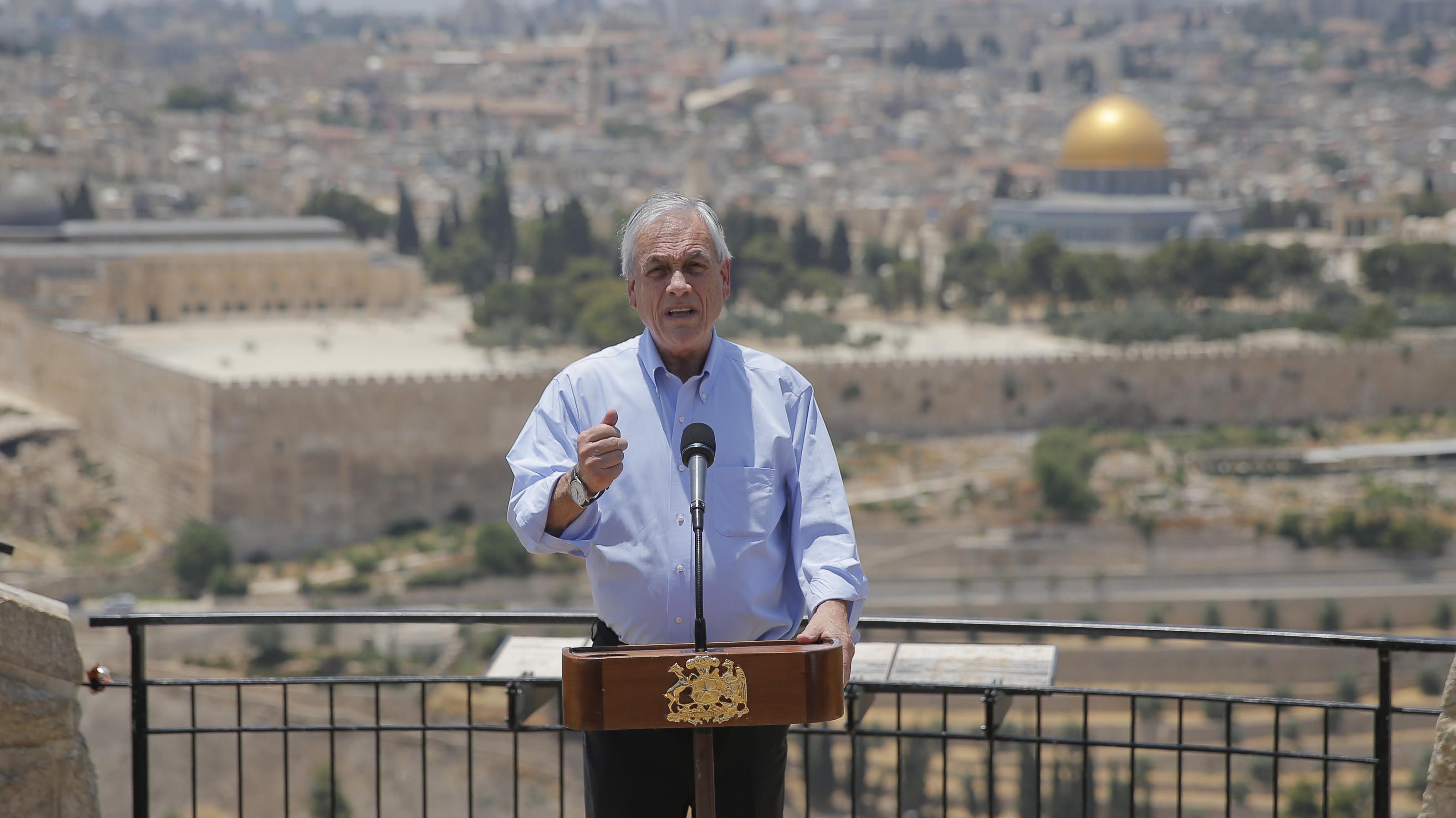 Chile envía nota diplomática a Israel para aclarar que visita de Piñera a ciudad vieja de Jerusalén era sin autoridades locales