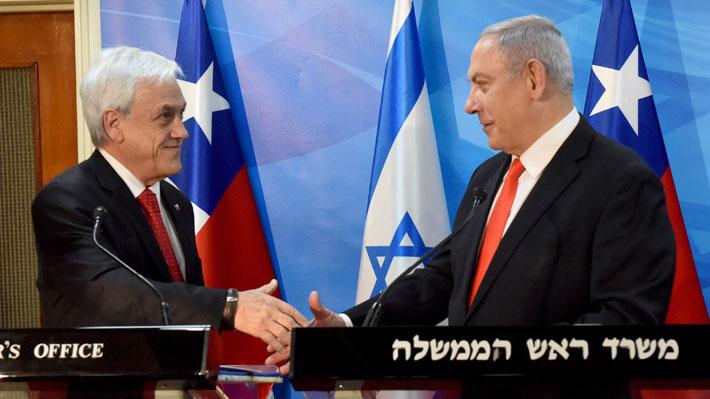 Piñera se reúne con Netanyahu en medio de tensión por presencia de autoridades locales en sus actividades