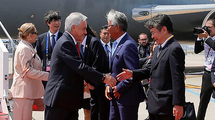 Piñera arriba a Japón para participar de la Cumbre de Líderes del G20