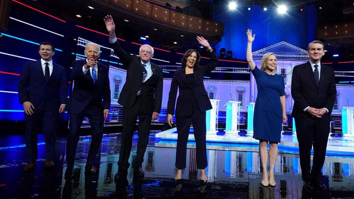 Enfrentamiento entre Joe Biden y Kamala Harris marcó el segundo debate demócrata en EE.UU.